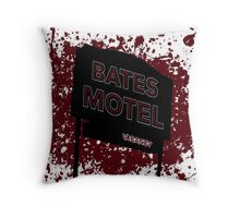 Bates Motel - Alfred Hitchcock Throw Pillow