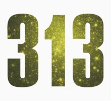 313 Detroit [Gilded Galaxy] | Phone Area Code Shirts by FreshThreadShop