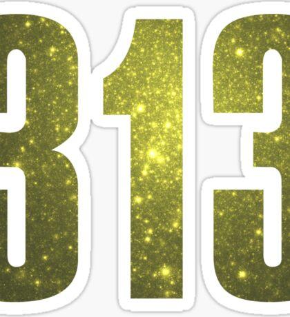 313 Detroit [Gilded Galaxy] | Phone Area Code Shirts Sticker
