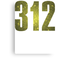 312 Chicago [Gilded Galaxy] | Phone Area Code Shirts Canvas Print