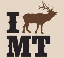 I love Montana (elk)  by Kevin Piazza