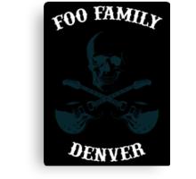 Foo Fam Denver Canvas Print