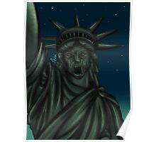Statue of Liberty-Weeping Angel   Poster