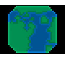 Pixel Earth Photographic Print