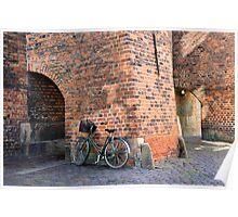 Bicycle, St. Nicholas Church, Copenhagen, Denmark Poster