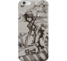 A strange world Woman with spears iPhone Case/Skin