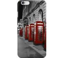 Red Phone Boxes Blackpool iPhone Case/Skin