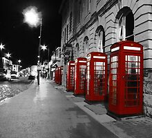 Red Phone Boxes Blackpool by Gavin Stanfield