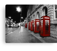 Red Phone Boxes Blackpool Canvas Print