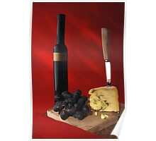 stilton and wine Poster