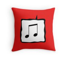 Music Speak Throw Pillow