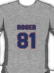 National football player Roger Carr jersey 81 T-Shirt