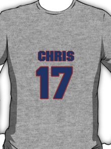 National football player Chris Givens jersey 17 T-Shirt