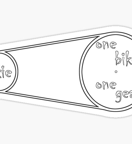 Fixie - one bike one gear Sticker