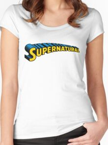 Supernatural superman Women's Fitted Scoop T-Shirt