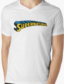 Supernatural superman Mens V-Neck T-Shirt