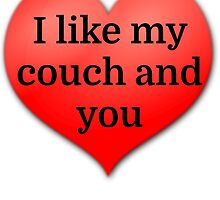 I like my couch and you by evahhamilton