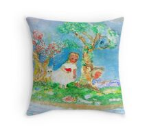 My Valentine Whimsical Designer Art Throw Pillow