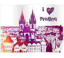 I love Prague Poster