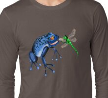 Blue Frog and Dragonfly Long Sleeve T-Shirt
