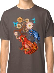 Red Frog and flowers Classic T-Shirt