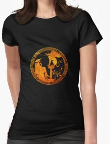 Man and Sphinx Womens Fitted T-Shirt