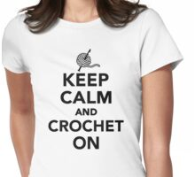 Keep calm and Crochet on Womens Fitted T-Shirt