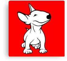 English Bull Terrier Pup White Canvas Print