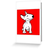 English Bull Terrier Pup White Greeting Card