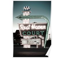 Rest Haven Court Motel. (Alan Copson © 2007) Poster