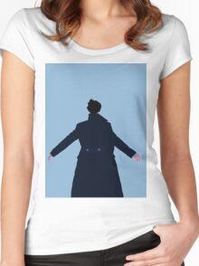 Sherlock The Reichenbach Fall Women's Fitted Scoop T-Shirt