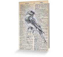 Literary Bluebird Greeting Card