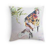 Calico Fantail Goldfish Throw Pillow