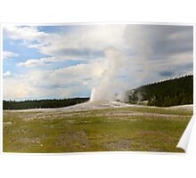 Old Faithful, Yellowstone National Park Poster