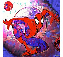 Superhero Spider to the Rescue Photographic Print