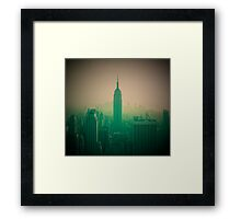 Manhattan Skyline + Empire State Building (Alan Copson © 2007) Framed Print