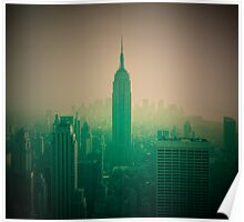 Manhattan Skyline + Empire State Building (Alan Copson © 2007) Poster