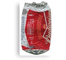 Budweiser - crushed tin Canvas Print