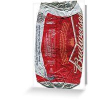 Budweiser - crushed tin Greeting Card