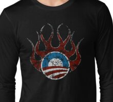 Obama is on Fire T shirt Long Sleeve T-Shirt