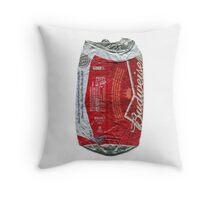 Budweiser - crushed tin Throw Pillow
