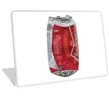 Budweiser - crushed tin Laptop Skin