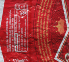 Budweiser - crushed tin Sticker