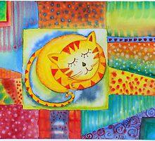 Cat in a Garden  by sunnyklee