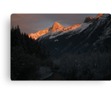 French Alps sunset Canvas Print