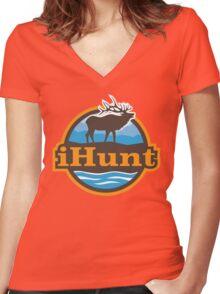iHunt for Elk & Sometimes Deer Women's Fitted V-Neck T-Shirt