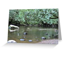 River Valley - Calm Water Greeting Card