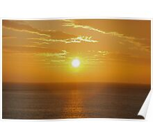 Sunset 3 Cowbar Poster
