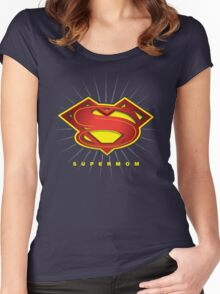 SUPERMOM Women's Fitted Scoop T-Shirt