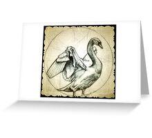 swan drawing Greeting Card